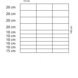 Viltstängselnät för varg 145 cm, 50 m